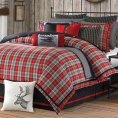 Plaid & Cable Knit Lodge Bedding