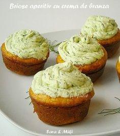 Briose aperitiv cu crema de branza ~ Culorile din farfurie Creative Food Art, Baked Potato, Cupcake, Muffin, Food And Drink, Potatoes, Cheesecake, Baking, Breakfast