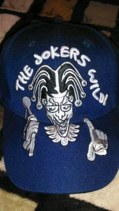 Hats 163543: Baseball Cap The Jokers Wild Embroidered Blue -> BUY IT NOW ONLY: $43 on eBay!