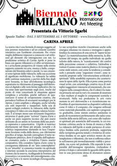 BIENNALE MILANO presentata da Vittorio Sgarbi - Testo Critico di Elena Gollini