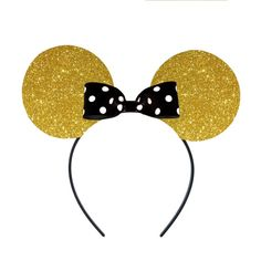 LIMITED EDITION Gold Glitter Mickey or Minnie by EasyPeasyLemon, $4.50