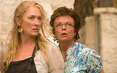 Julie Walters  with Meryl Streep in Mamma Mia