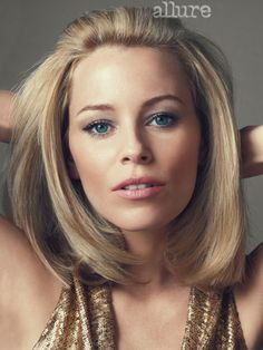 Get a behind-the-scenes look at Elizabeth Banks' photo shoot in the June issue of Allure, with hair styled by Oribe using Oribe Hair Care products. Girls Short Haircuts, Cute Hairstyles For Short Hair, Trending Hairstyles, Pretty Hairstyles, Medium Hair Styles, Short Hair Styles, 70s Hair, Retro Hair, Actrices Hollywood