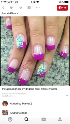Pretty nail design nail art purple nail polish