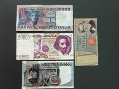 Lot Lire Banknoten, Italien, Banknote, Geldschein, Banca Italia, Italy vor EURO! | eBay