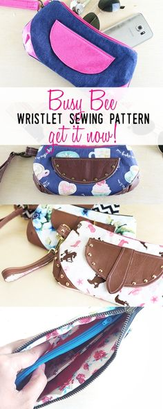 wristlet sewing pattern   purse patterns   bag sewing patterns   handbag patterns