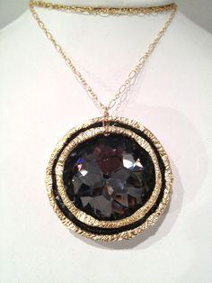 Black Diamond Necklace by OvandoSalvi on Etsy,