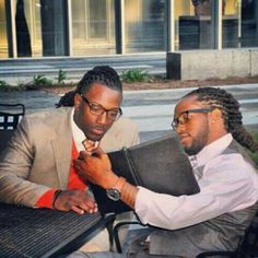 Black men, locs, and suits. My kind of combo.