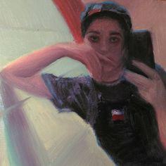 "Lorenzo Sammartino aka Rolli (rolli.art) on Instagram: ""Lucille - color study #wip  #oilpainting #oilpaint #portrait #selfie #girl #beauty #gamut…"""