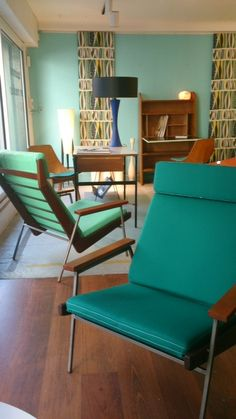 4 chairs from Rob Parry mid century. www.relax-factory.com