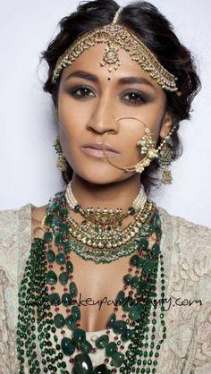 Sabysachi makeup and jewelry
