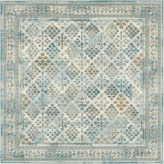 light blue 6u0027 x 6u0027 montreal square rug area rugs