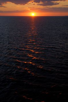 There is something so very spiritual about being surrounded by this much living, moving water...Baltic Sea Sunset