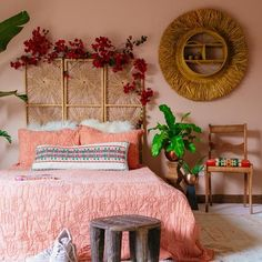 Hamsa Quilt Set by Justina Blakeney® - Jungalow Boho Room, Boho Living Room, Home Bedroom, Room Decor Bedroom, Bedroom Ideas, Bedroom Designs, Gypsy Bedroom, Wicker Bedroom, Modern Bedroom