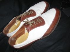 SOLD! Men's 50's Brown and White Spectator Oxford Shoes by VintageJoAnn, $68.00