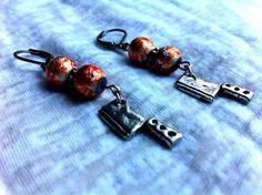 Dexter Blood Spatter Meat Cleaver Halloween Earrings by Hankat, $15.00