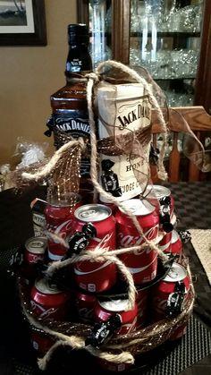Jack Daniel Coke cake with Jack Daniel fudge..