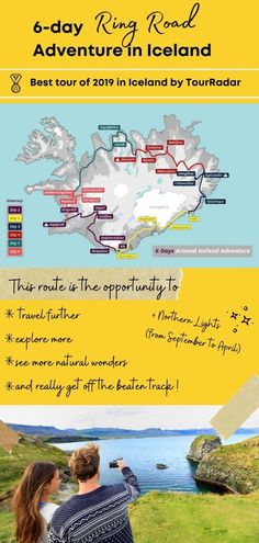 Here's how you can see the best places in Iceland in 6 days! The Ring Road trip goes through the best natural wonders in the country. This must be on your Iceland bucket list! Iceland Road Trip, Iceland Travel Tips, Iceland Tour Packages, Sea Angling, Iceland Adventures, Whale Watching Tours, Country Hotel, See The Northern Lights, Fishing Villages
