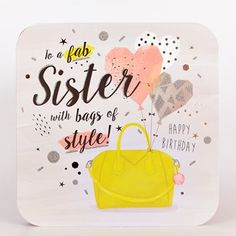 Birthday Cards for Sister, Personalised Funny Sister Birthday Cards UK Birthday Greetings For Sister, Birthday Cards For Women, Happy Birthday Sister, Funny Birthday Cards, Birthday Greeting Cards, Birthday Wishes, Birthday Bash, Sister Cards, Birthday Card Drawing