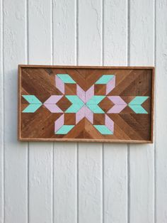 Wood Wall Art Wood Wall Decor Mosaic Art Diamond by PastReclaimed