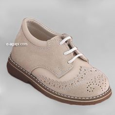 Oxford baby boy shoes blue brown ecru grey leather by eAGAPIcom