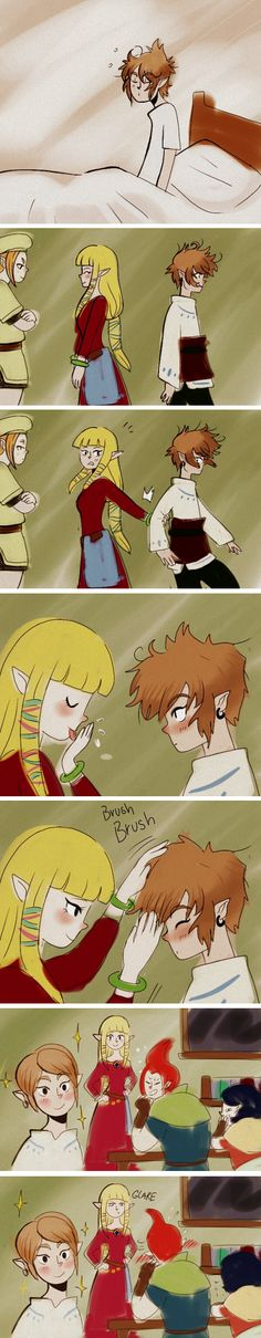 don't be jealous, groose. your hair is already beautiful without zelda spit.<<<ummm...ok then