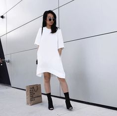 White t shirt dress