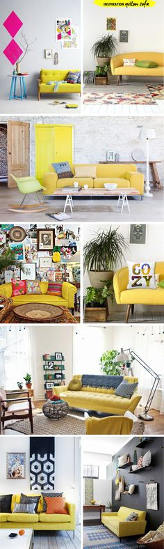 INSPIRATION | Yellow Sofa - I Spy DIY