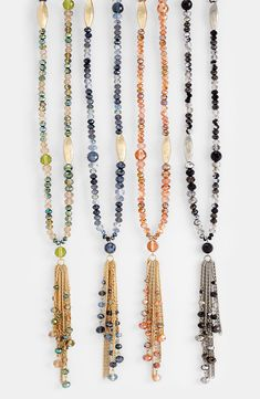 Free shipping and returns on Nordstrom 'Tango Divine' Tassel Necklace at Nordstrom.com. Faceted squash beads and striated metal beads fashion a delicate necklace suspending a tassel of bead-punctuated chains.