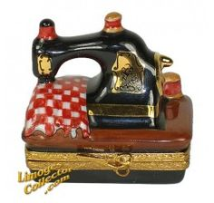 Sewing Machine with Fabric Limoges Box (Artoria).