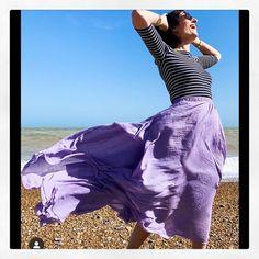 Windy Skirts, Layered Skirt, Lilac, Pink, Cotton Linen, Tie Dye Skirt, Ballet Skirt, Clothes For Women, Linen Skirt
