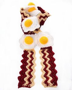 Get it? It's breakfast! But it's a scarf!  THAT'S THE JOKE.  GET IT???????