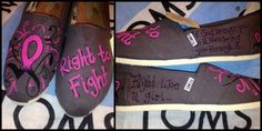 Right to Fight - Pink Ribbon - Fight Like a Girl - Breast Cancer Awareness