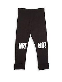 NUNUNU Toddler's & Little Girl's Printed Sweatpants - Black