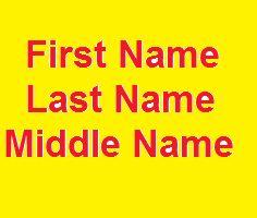 First name last name middle name có nghĩa là gì?