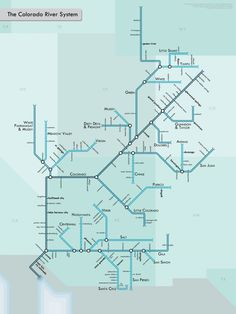 The Colorado River system, rendered as an urban transit network.