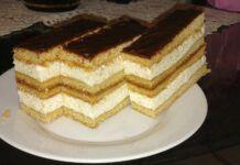 Mézes grízes krémes dupla adag krémmel Hungarian Recipes, Vanilla Cake, Tiramisu, Cheesecake, Clean Eating, Deserts, Food And Drink, Pie, Sweets