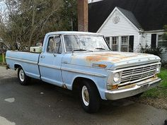 1969 ford f100 - Google Search F100 Truck, Chevy Trucks, Pickup Trucks, 1969 Ford F100, Old Fords, Cool Trucks, Campers, Mercury, Dream Cars