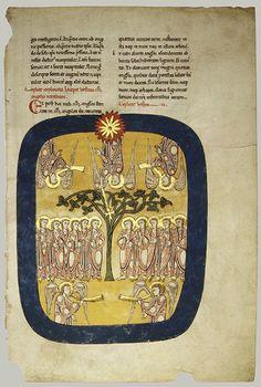 Leaves from a Beatus Manuscript [Spanish (Burgos, Castile-León)] (1991.232.1-.14) | Heilbrunn Timeline of Art History | The Metropolitan Mus...