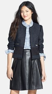 Halogen Mixed Media Tweed Jacket | Corporette