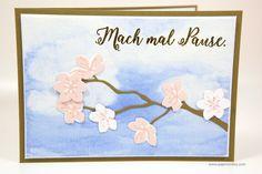 Blütenzweig-Karte mit Stampin' Up! - Produktset Farbenspiel: Jahr voller Farben, Aus jeder Jahreszeit