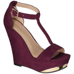 Womens Xhilaration Sinead T-Strap Open Toe Wegde - Red @Crystal Hamer no shoes dis color (not sold n stores)