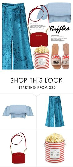 """Ruffles"" by fontele ❤ liked on Polyvore featuring Michael Kors, The Hampton Popcorn Company, Kate Spade and polyvoreeditorial"