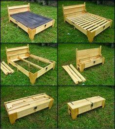 Come creare un letto trasportabile? Ecco una bella idea #faidate! Great and beautiful project #diy