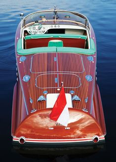 The Tritone is a mahogany runabout that first entered production in 1950 by Riva, a company that had been founded 104 years earlier in The Tritone Wooden Speed Boats, Wood Boats, Plywood Boat Plans, Wooden Boat Plans, Yacht Design, Boat Design, Riva Boot, Ski Nautique, Buy A Boat