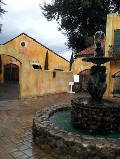 Andretti winery, another BEAUTIFUL winery we visited in Napa, on our honeymoon