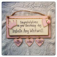 Christening baby girl gift £15.00