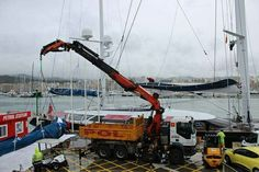 The recently launched 56m #sailingyacht #SYMondangoiii is with our #riggers in STP Palma.  #RiggingInPalma www.rsb-rigging.com