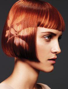 Plantilla del pelo hecho con lejía!