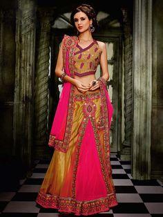 Beautiful Pink colour Engagement Lehenga
